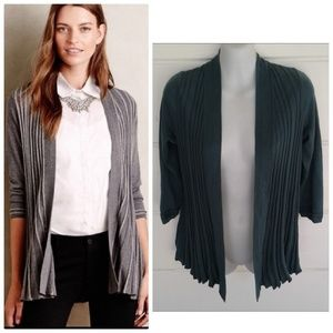 Anthropologie Knitted & Knotted Green Cardigan XS